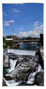 Spokane Falls And Riverfront Bath Towel