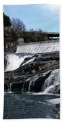 Spokane Falls At Low Tide Bath Towel