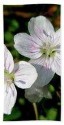 Spring Beauty Wildflowers - Claytonia Virginica Bath Towel