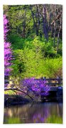 Spring Blossoms On Lake Marmo Bath Towel