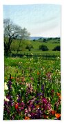 Spring Bouquet At Rusack Vineyards Bath Towel