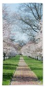 Spring Cherry Trees Bath Towel