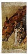 Spring Creek Basin Wild Horses Bath Towel