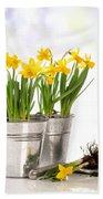 Spring Daffodils Bath Towel