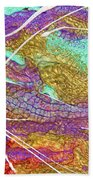 Spring Daydream Abstract Painting Bath Sheet