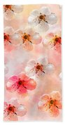 Spring Flowers Abstract 5 Bath Towel