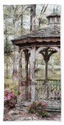 Spring Gazebo Painteffect Bath Towel