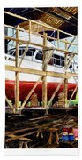 Yacht Glacier Bear Hauled Out In Gig Harbor Bath Towel