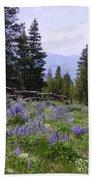 Spring Mountain Lupines Bath Sheet