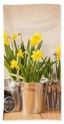 Spring Planting Bath Towel