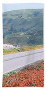 Spring, Route 1, California Coast Bath Towel