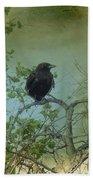 Spring Tree And Crow Bath Towel