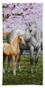 Spring's Gift - Mare And Foal Bath Towel