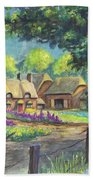 Springtime Cottage Bath Towel