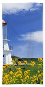 Springtime Lighthouse Bath Towel