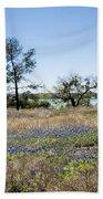 Springtime Texas Bluebonnets Naturalized Bath Towel