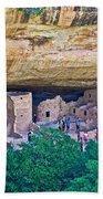 Spruce Tree House On Chapin Mesa In Mesa Verde National Park-colorado  Bath Towel