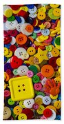 Square Button Bath Towel by Garry Gay