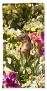 Squirrel In The Botanic Garden-dallas Arboretum V6 Bath Towel