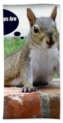 Squirrely Push Ups Bath Towel