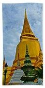 Sri Lanka Pagoda At Grand Palace Of Thailand In Bangkok Bath Towel