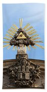 St Anne's Church In Budapest Architectural Details Bath Towel