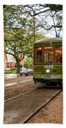 St. Charles Ave. Streetcar In New Orleans Bath Towel