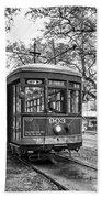 St. Charles Streetcar 2 Bw Bath Towel