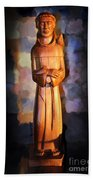 St. Francis Of Assisi By George Wood Bath Towel
