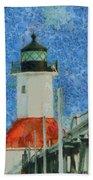 St. Joseph Lighthouse Lake Michigan Bath Towel