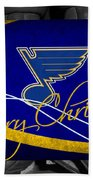 St Louis Blues Christmas Bath Towel