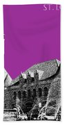 St Louis Skyline Union Station - Plum Bath Towel