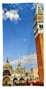 St Marks Square - Venice Italy Bath Towel