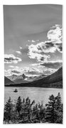 St. Mary Lake Bw Bath Towel