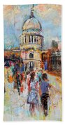 St Paul's From The Millennium Bridge Bath Towel