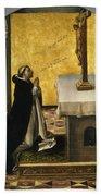 St. Peter Martyr In Prayer Bath Towel