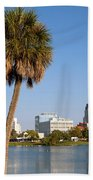 St Petersburg Florida From Mirror Lake Park Bath Towel