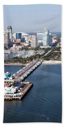 St Petersburg Skyline And Pier Bath Towel