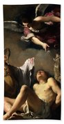 St. Sebastian Succoured By Two Angels Hand Towel