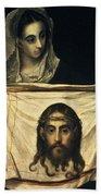 St Veronica With The Holy Shroud Bath Towel