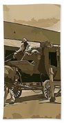 Stagecoach In Old West Arizona Bath Towel