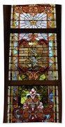 Stained Glass 3 Panel Vertical Composite 02 Bath Towel