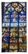 Stained Glass Crucifixion Bath Towel