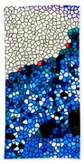 Stained Glass Leopard 1 Bath Towel