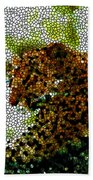 Stained Glass Leopard 2 Bath Towel