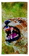 Stained Glass Leopard 3 Bath Towel