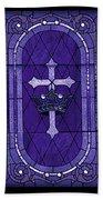 Stained Glass - Purple Bath Towel