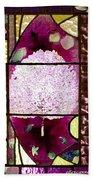 Stained Glass Template Magnolia Glory Bath Towel