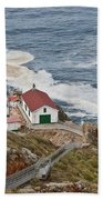 Stairway Leading To Point Reyes Lighthouse Bath Towel