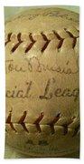 Stan Musial Autograph Baseball Bath Towel